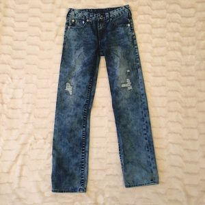 True Religion Straight Fit Distressed Jeans Sz12